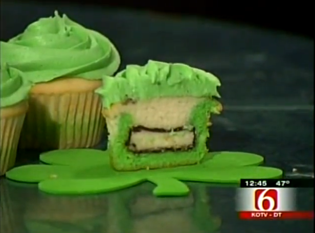 Peppermint Patty St. Patricks Day Cupcakes