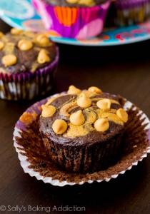 Skinny-Peanut-Butter-Swirl-Chocolate-Cupcakes-10