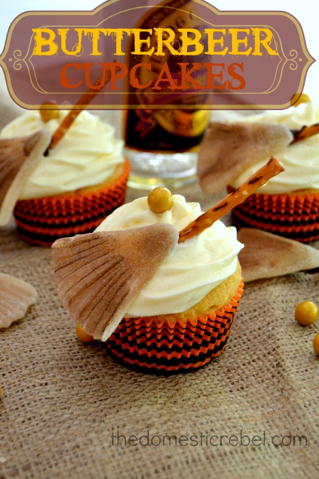 Butterbeer Cupcakes Yellow Cake Mix