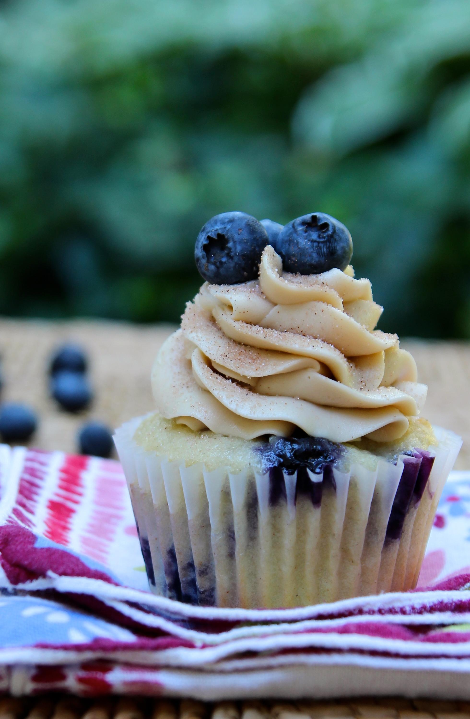 Blueberry Pancake Cupcake