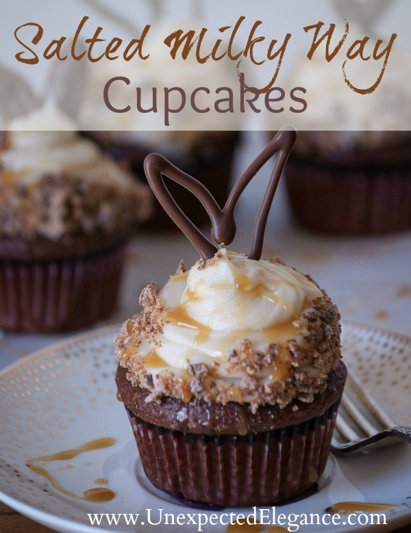 Salted Milky Way Cupcakes