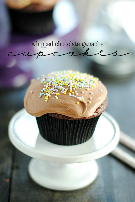 Whipped Chocolate Ganache Cupcakes