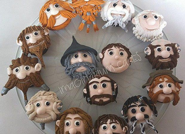 The Hobbit – 12 Dwarves, Bilbo, Gandalf, and Gollum Cupcakes