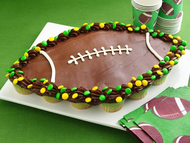 Football Cupcake Pull Aparts
