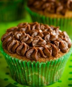 Irish Coffee Brownie Cupcakes