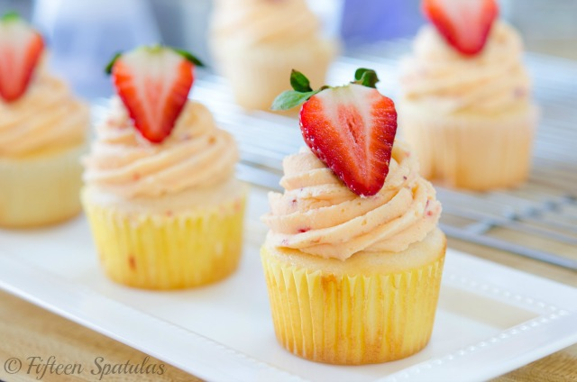 Strawberry Buttercream Cupcakes