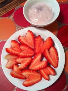 valentine strawberyr hearts