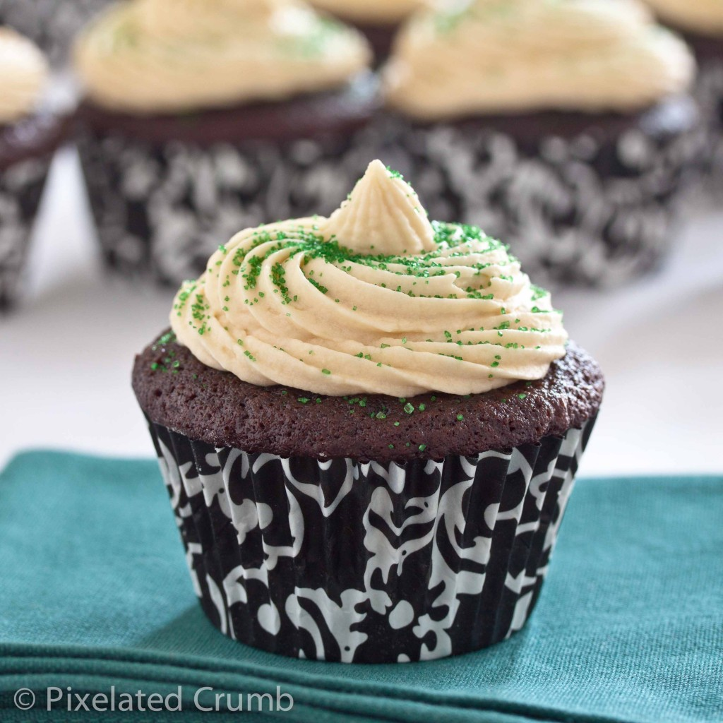 Chocolate Stout Cupcakes with Whiskey Ganache Filling