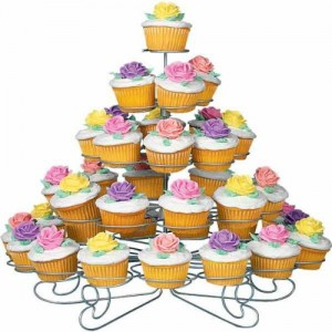 Adorable Tiered Metal Cupcake Stand
