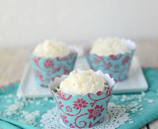 triple coconut cupcakes
