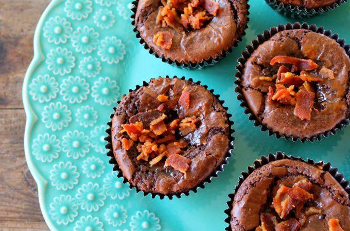Bourbon Bacon Brownie Cupcakes