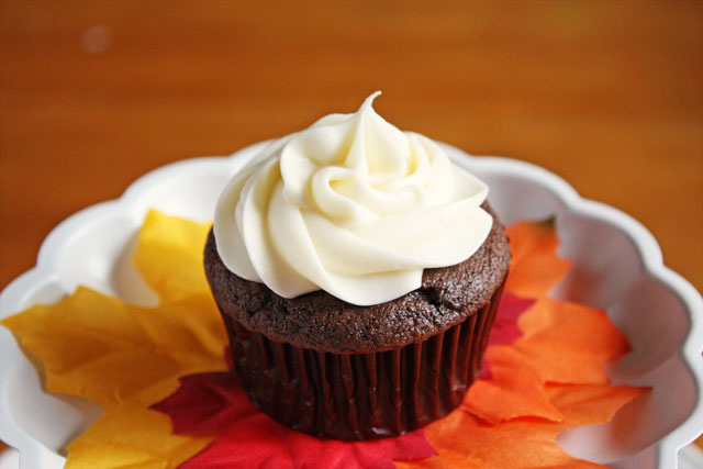 Chocolate Pumpkin Spice Cupcakes