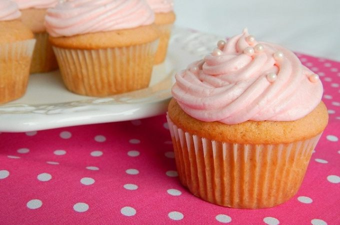 Pink Champagne Cupcakes