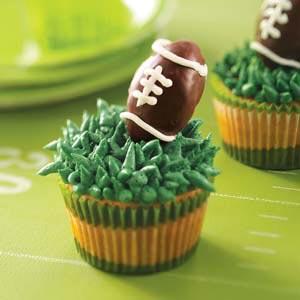 Truffle Football Cupcakes