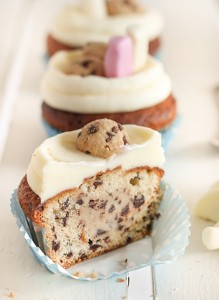Milk and Chocolate Chip Cookie Cupcakes