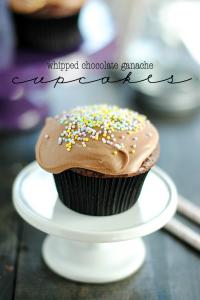 Whipped Chocolate Ganache Cupcakes