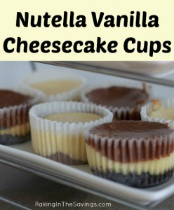 Nutella Vanilla Cheesecake Cups