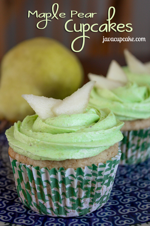 Maple Pear Cupcakes