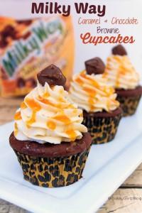Milky Way Brownie Cupcakes