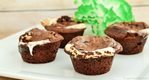 Double Mint Brownie Cupcakes