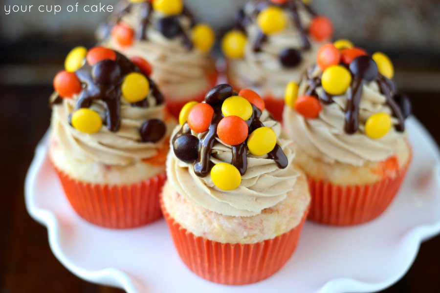 Reese S Pieces Cupcakes Cupcake Fanatic