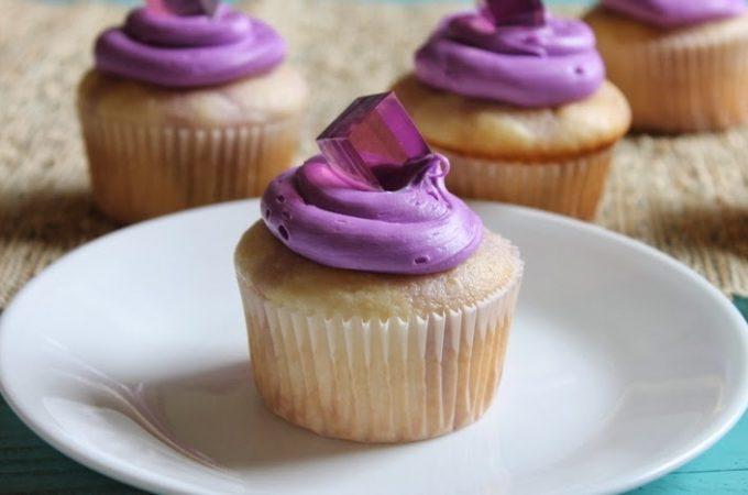 Grape Jello Shot Cupcakes