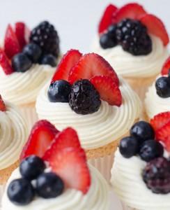 Lemon Berry Angel Food Cupcakes