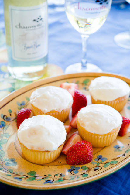 Wine and Cheese Cupcakes
