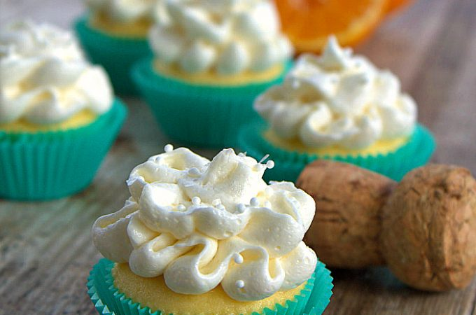 Mini Mimosa Cupcakes