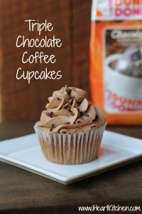 Triple Chocolate Coffee Cupcakes
