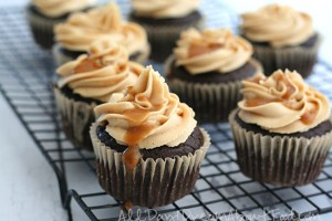 Salted Caramel Brownie Cupcakes