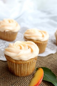 Brown Butter Peach Cupcakes