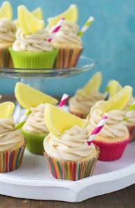 Margarita Cupcakes with Cream Cheese Lime Frosting