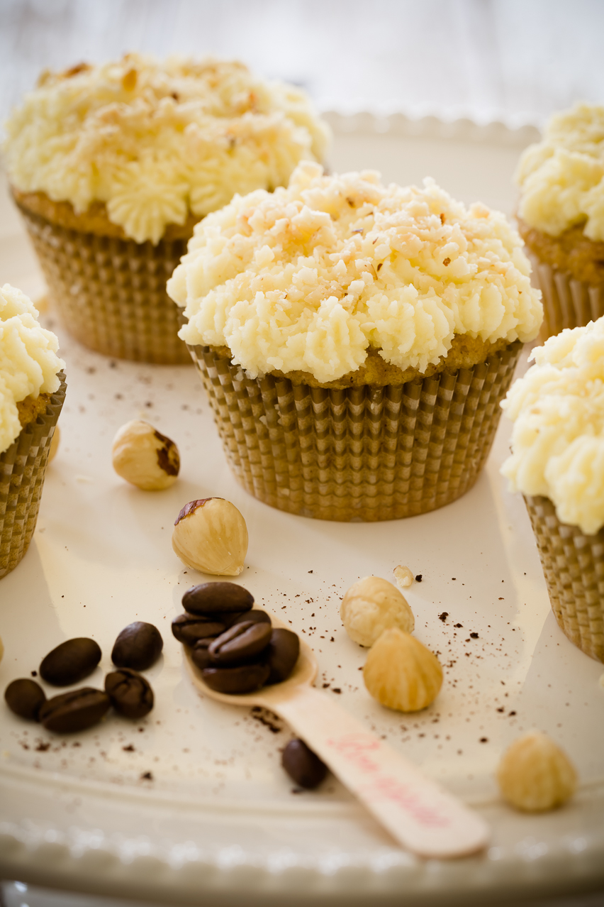 Hazelnut Coffee Cupcakes